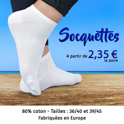 Socquettes unies