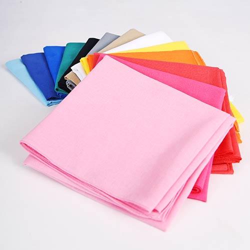 Bandana uni, le choix de la couleur pur coton
