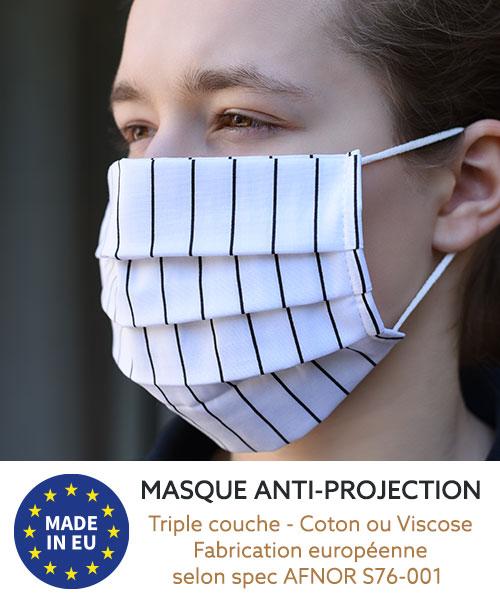 Masques disponibles