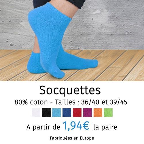 Socquettes coton femme et homme